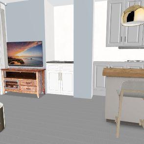 להעביר את הכיור לצד Interior Design Render