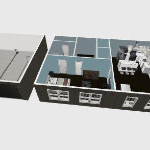 Garage House Interior Design Render