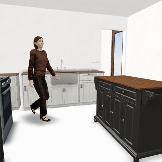 semi open  Interior Design Render