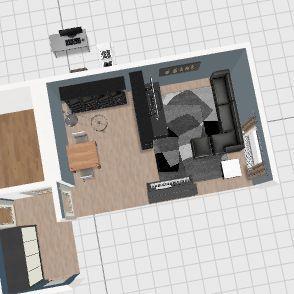 Home1_narożnik_szafa w srodku Interior Design Render