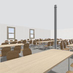 Square 174 seats Interior Design Render