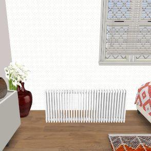 Master Bed & Bathroom Interior Design Render