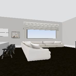 white Interior Design Render