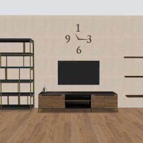 סלון Interior Design Render