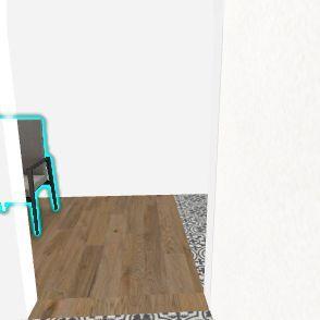 Marywilska zamknięta kuchnia 10 nowy gabinet Interior Design Render