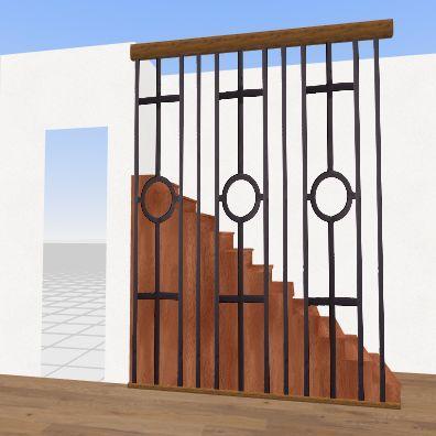escada na praia Interior Design Render