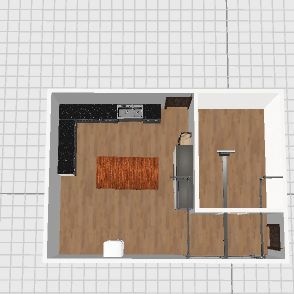 20x28 Butcher shop with 10x14 Cooler Interior Design Render