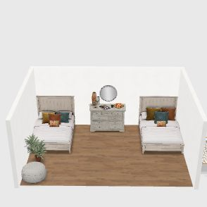 finca rustica Interior Design Render
