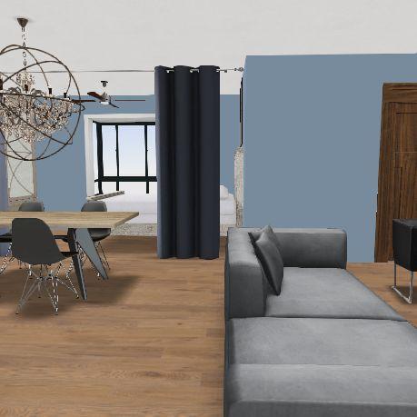New York Studio Apartment Interior Design Render