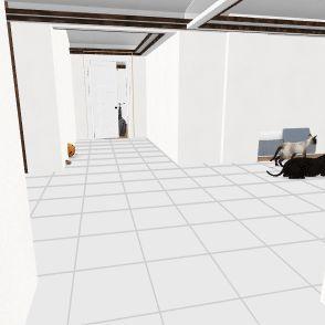 Wheelchair house Interior Design Render