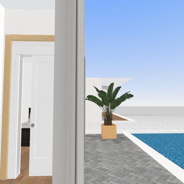 modern box house Interior Design Render