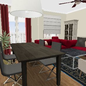 piso cenes salon terraza Interior Design Render