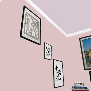 Teen Girl Room Interior Design Render