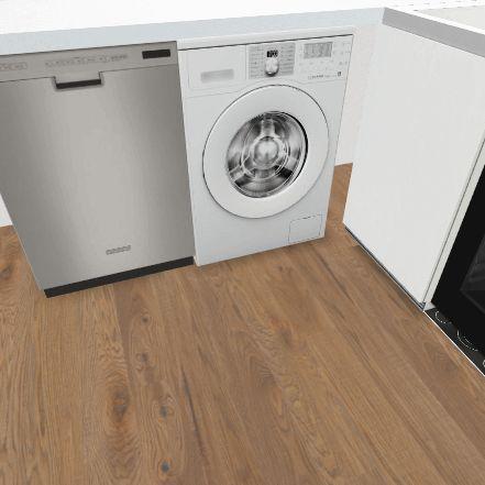 Casa_pasillo_cocina2_baño Interior Design Render