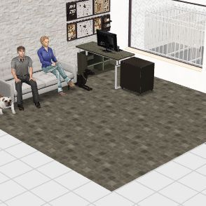 dog Interior Design Render