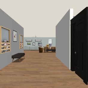 Future house Interior Design Render