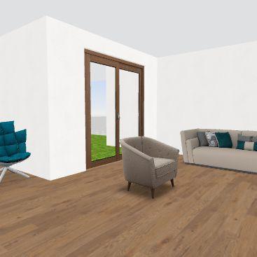 casa no terminada Interior Design Render