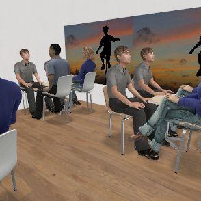 CAFE GAMO Interior Design Render