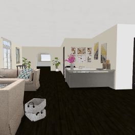studio/ coffee Interior Design Render