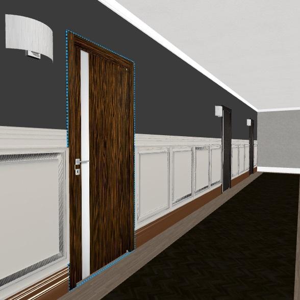 HALLWAY WOOD colour Interior Design Render