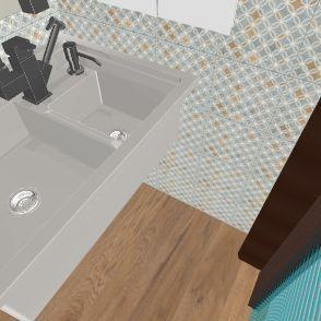 half bath Interior Design Render