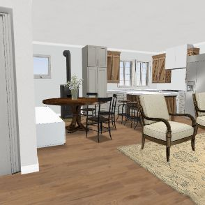 House on water Design 2 Interior Design Render