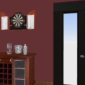 sala de jogos Interior Design Render