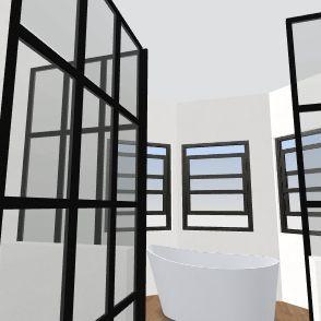 Master Bath current footprint- one shower Interior Design Render