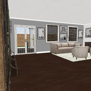 Garage Studio  Interior Design Render