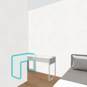 Habitación Sergio con Muebles para Compartir Interior Design Render