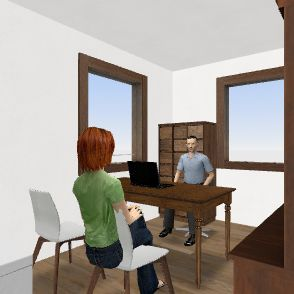 Despatx nou Josep Interior Design Render
