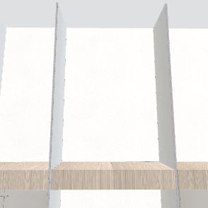 wood accent white house Interior Design Render