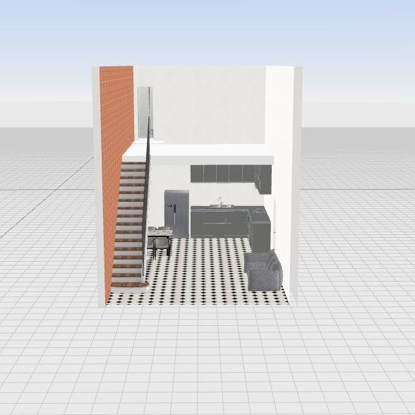 nhà 1 trệt 1 lửng Interior Design Render