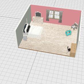 Avery's bedroom Interior Design Render