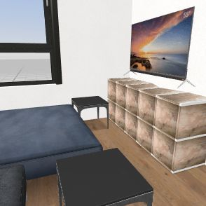 ny stue i kontor Interior Design Render