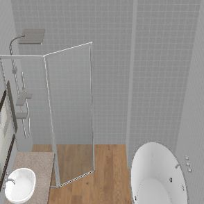 łazienka walk 5 katna otwarta Interior Design Render