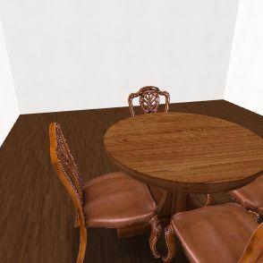 Dining table Interior Design Render