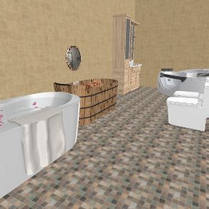 my bathroom Interior Design Render
