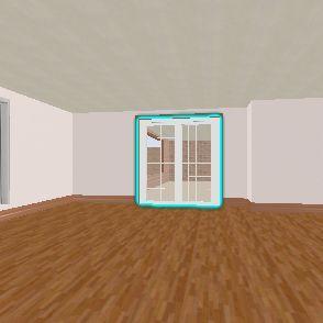 My California Town House Plaza. Interior Design Render