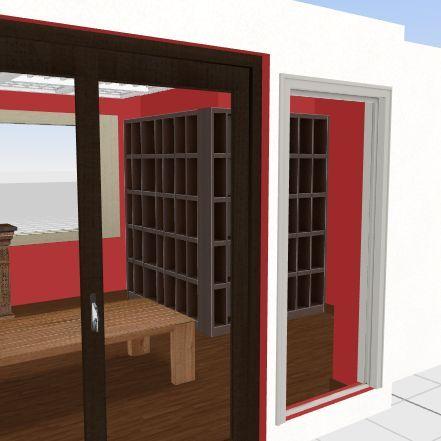Reading Room Interior Design Render