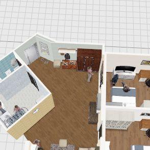 Горки 10 - кухня Interior Design Render