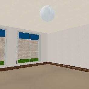112343 Small Bedroom. Interior Design Render