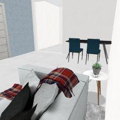casinha Interior Design Render