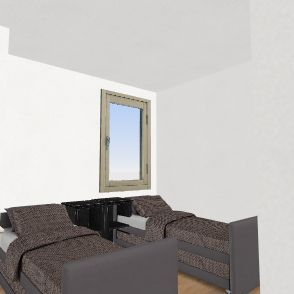 Dorm Room 1 Interior Design Render