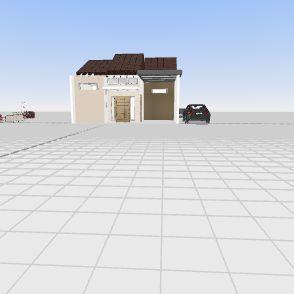 Ver L dengan atap Interior Design Render