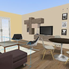 salon recou Interior Design Render