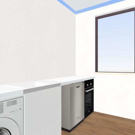 Casa_pasillo_Baño_carmen Interior Design Render