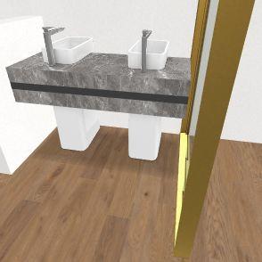 Kupelna zaciatok, umyvarka Interior Design Render
