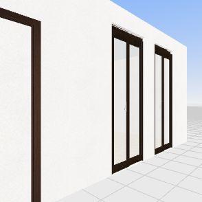 casa base con cabina  Interior Design Render