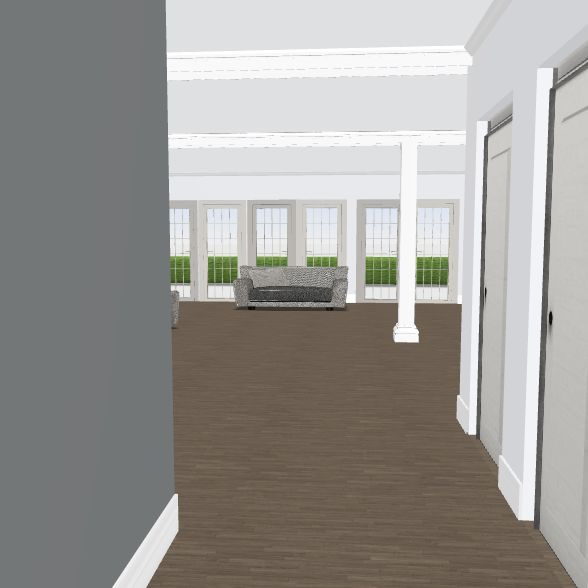 no kitch wall 3/alt stairs/addt w/existing bkgd Interior Design Render